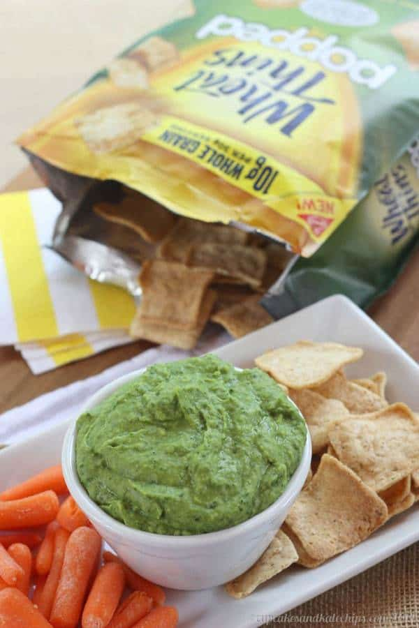 Spinach Parmesan White Bean Dip - a quick and easy five-ingredient recipe for a simple snack or appetizer.