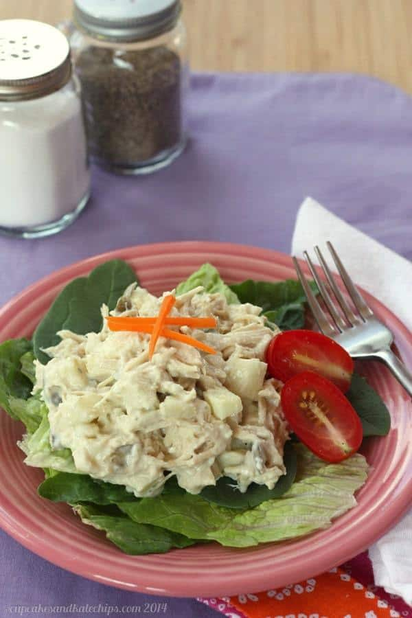 Apple Blue Cheese Chicken Salad - one of the best no cook meals