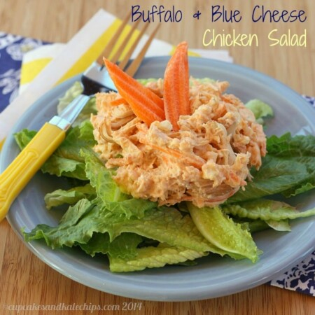 Buffalo and Blue Cheese Chicken Salad for #SundaySupper