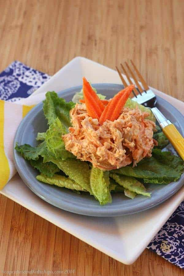 Buffalo and Blue Cheese Chicken Salad