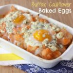 Buffalo Cauliflower Baked Eggs
