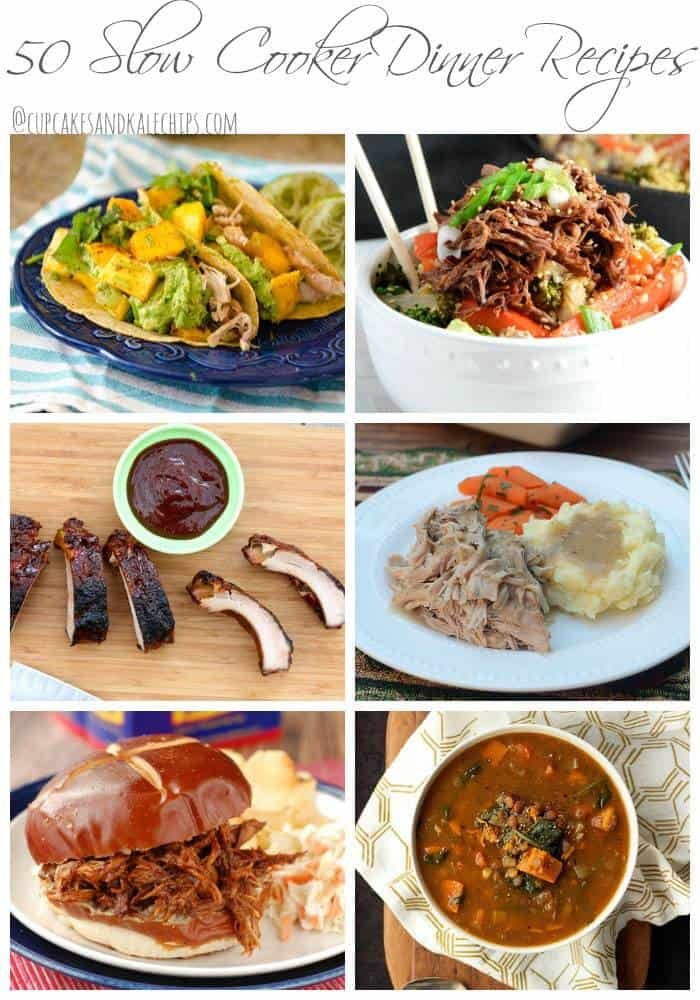 50 Slow Cooker Dinner Recipes | cupcakesandkalechips.com | #crockpot #slowcooker