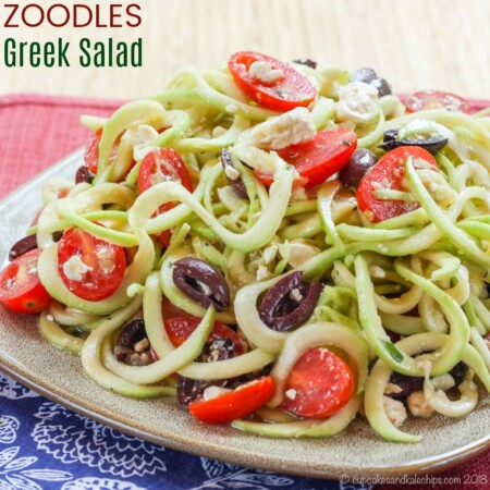 Zoodles Greek Salad