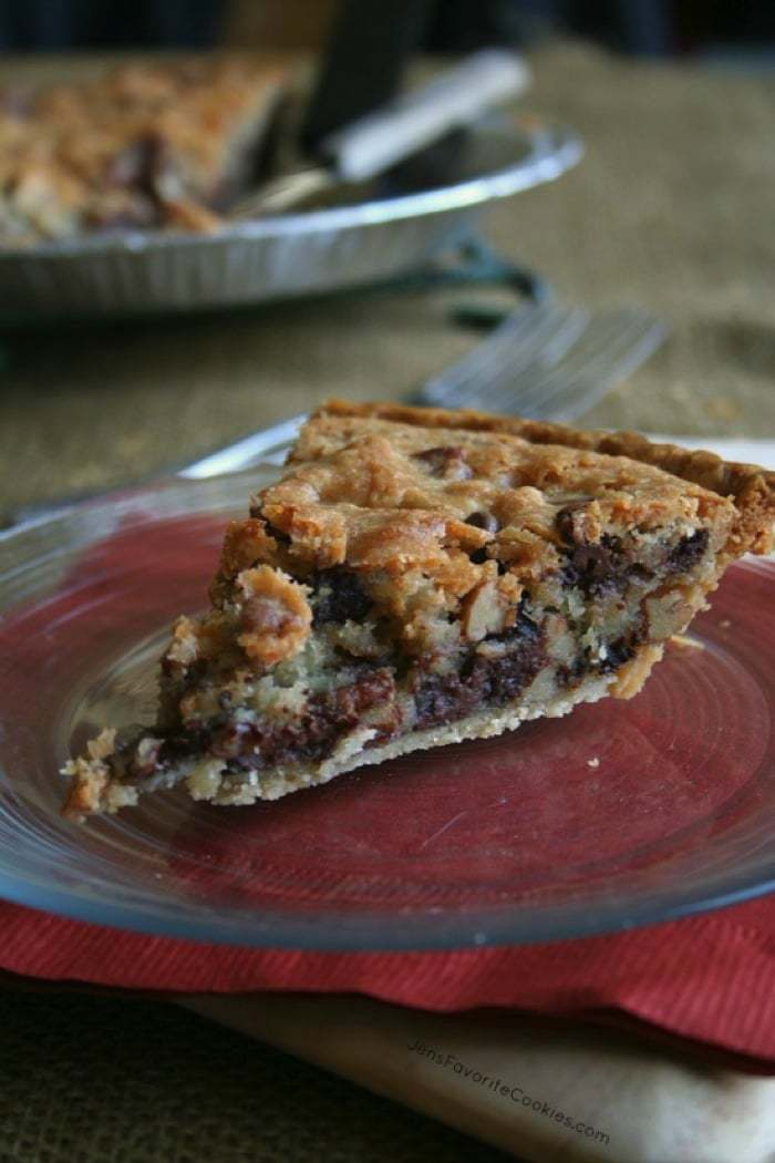 Chocolate Chip Cookie Pie - one of over 70 of the best pie recipes, everyone's favorite holiday dessert!