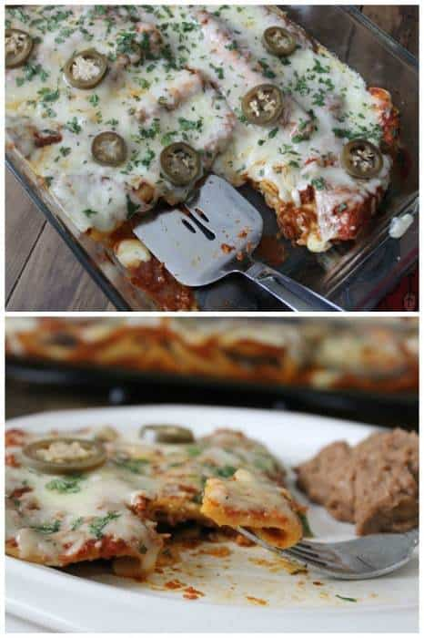 Breakfast Bacon Enchiladas Collage