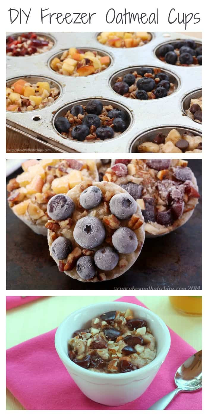 DIY Freezer Oatmeal Cups - customize this easy, make-ahead breakfast! | cupcakesandkalechips.com