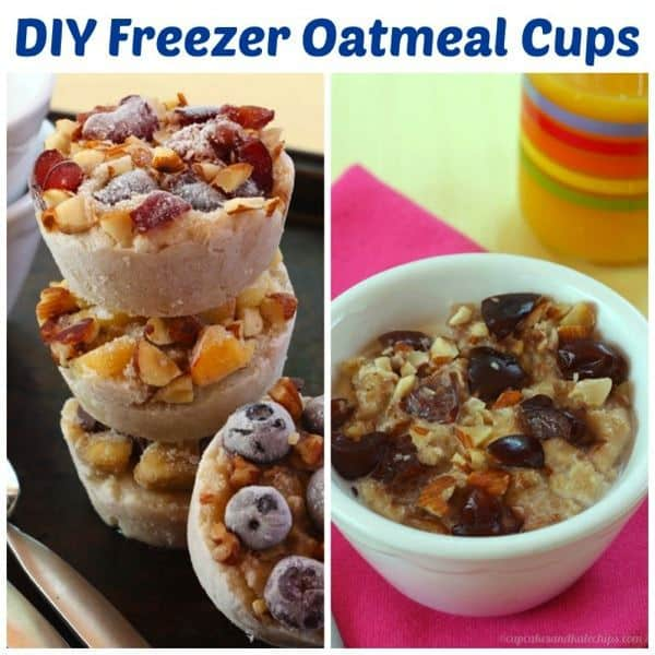 DIY Freezer Oatmeal Cups - Cupcakes & Kale Chips
