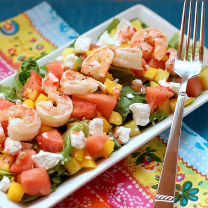 Fruity Summer Shrimp Salad - one of the best no cook meals