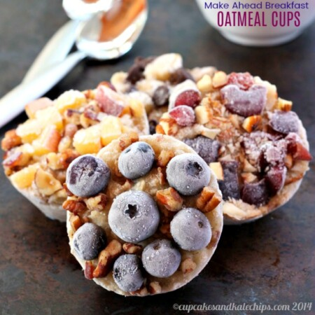 Make Ahead Breakfast Oatmeal Cups