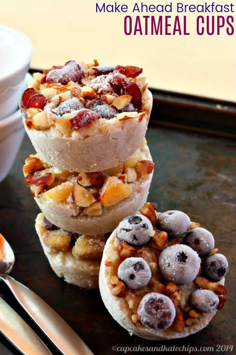 gluten free make ahead breakfast oatmeal cups