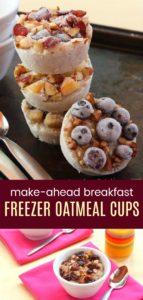 Make Ahead Breakfast Oatmeal Cups (photo collage)