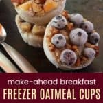 Make Ahead Breakfast Oatmeal Cups (photo collage)