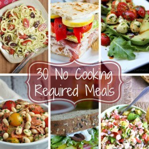 No-Cooking-Required-Meals-Roundup-Collage sq