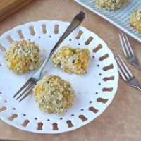 Chipotle Cheddar Cheese Cauliflower Poppers