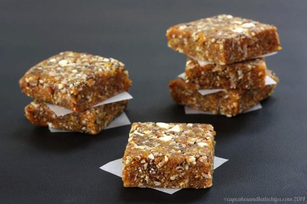 No-Bake Apricot Chia Healthy Energy Bars