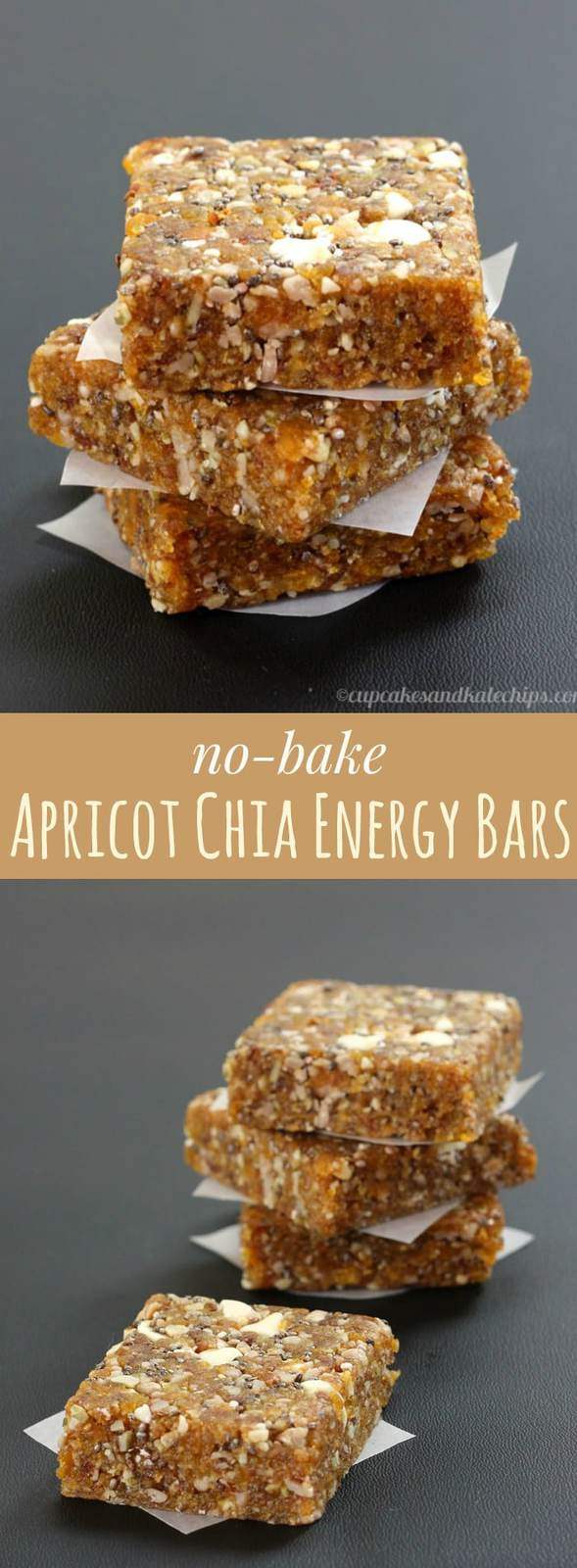 Apricot Chia Homemade Energy Bars