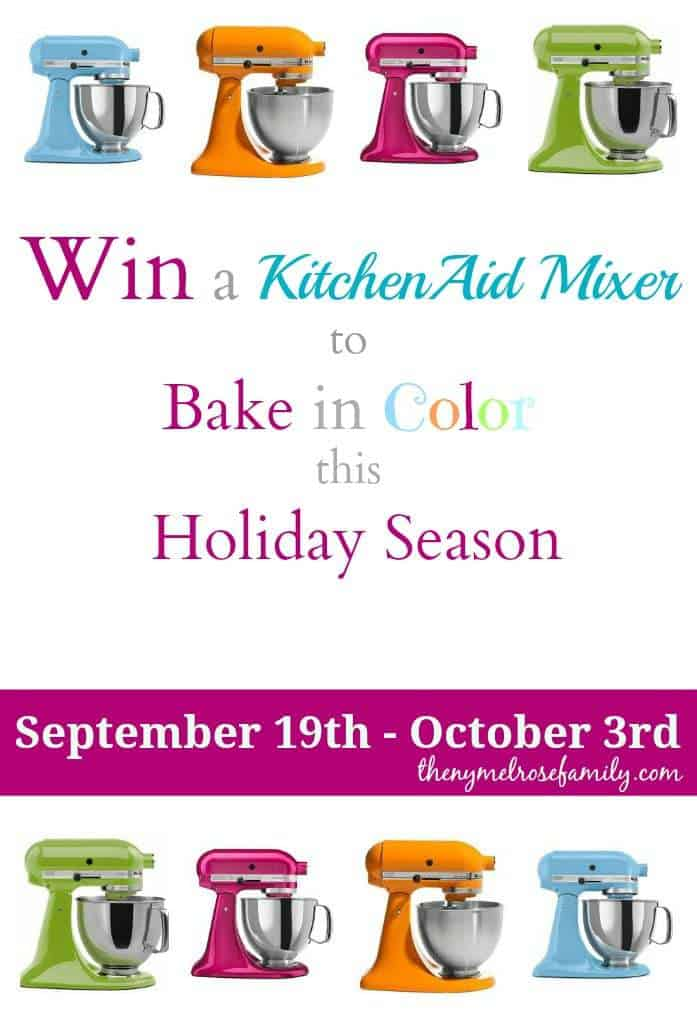 Win a KitchenAid Mixer - Enter this Awesome Giveaway to Bake in Color this Holiday Season