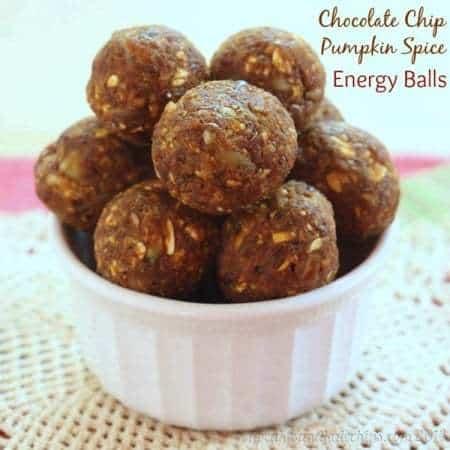 Pumpkin spice chocolate chip energy balls