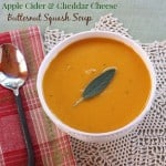 Apple Cider & Cheddar Cheese Butternut Squash Soup