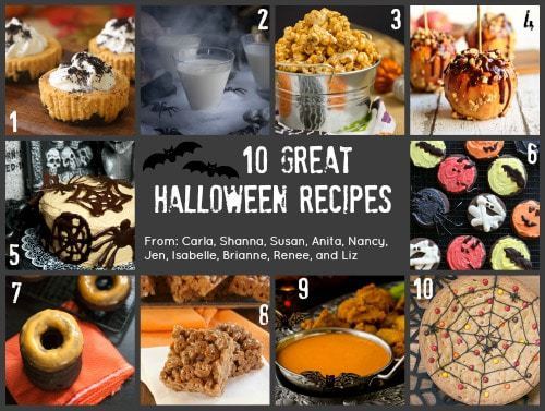 10 Great Halloween Recipes for the #HolidayFoodParty - fun new recipes from the best bakers and treats makers!