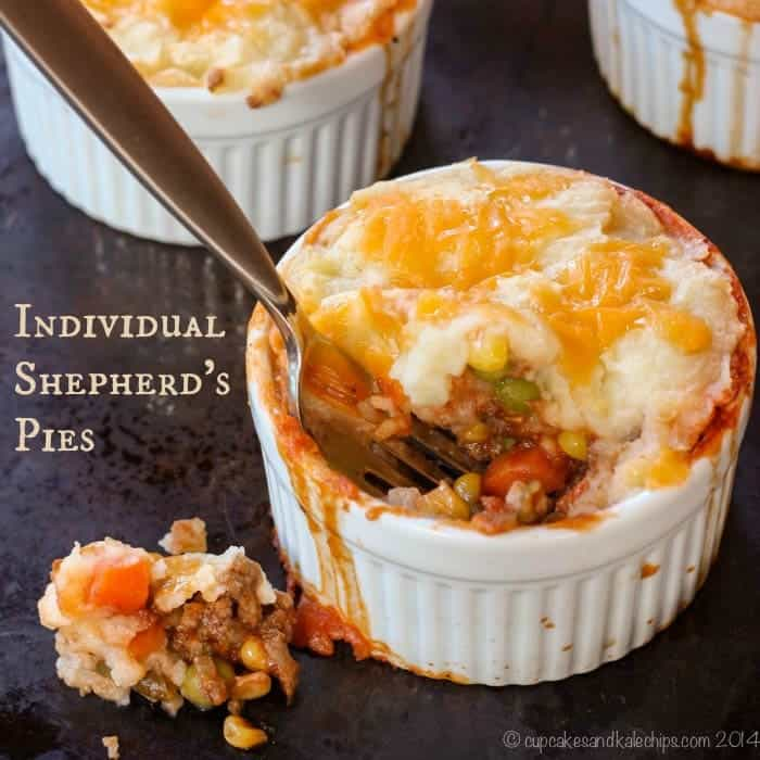 Individual Shepherd's Pies are an easy, tasty, and fun way to get kids to eat veggies! | cupcakesandkalechips.com | gluten free #ILikeVeggies #CleverGirls