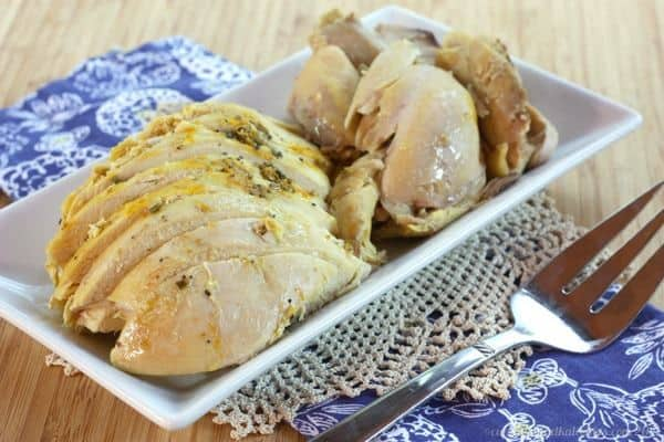 Orange Saffron Slow Cooker Roast Chicken - a chicken recipe with gourmet flavors, but easy enough for busy weeknights |cupcakesandkalechips.com | gluten free, paleo, low carb, healthy {#SlowCookerMeals #Giveaway #Spon}