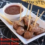 Steak Bites with Bloody Maria Dipping Sauce for #SundaySupper with @GalloFamily