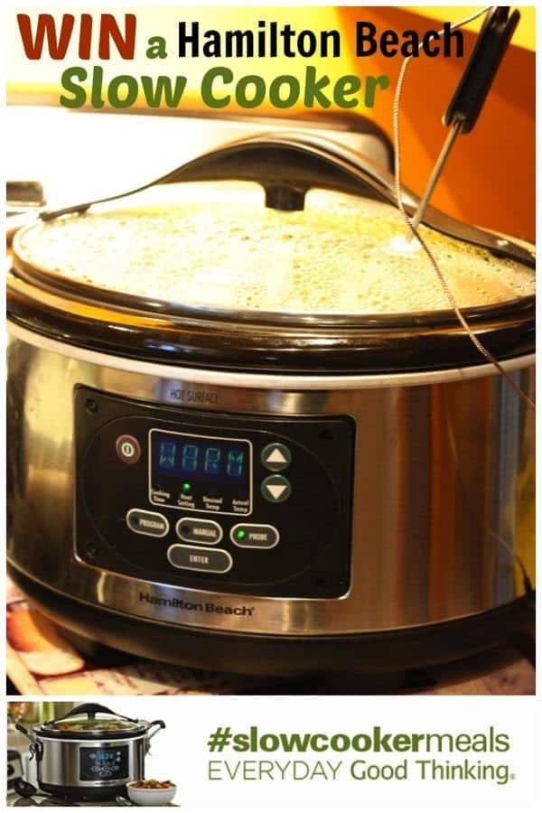 Win a Hamilton Beach Slow Cooker in this amazing #slowcookermeals giveaway from cupcakesandkalechips.com