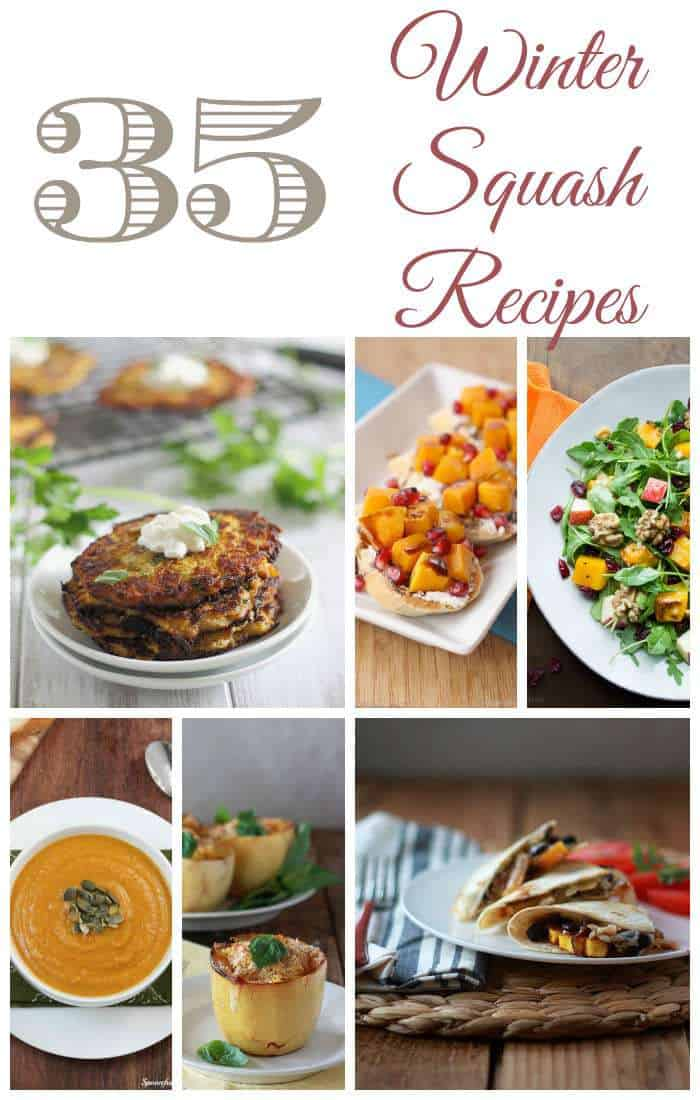 35 Winter Squash Recipes Roundup - the best recipes on the web featuring butternut squash, pumpkin, spaghetti squash, acorn squash and more! | momstestkitchen.com for cupcakesandkalechips.com