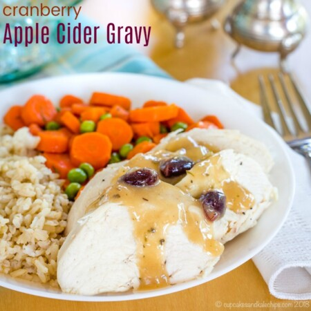Cranberry Apple Cider Gravy