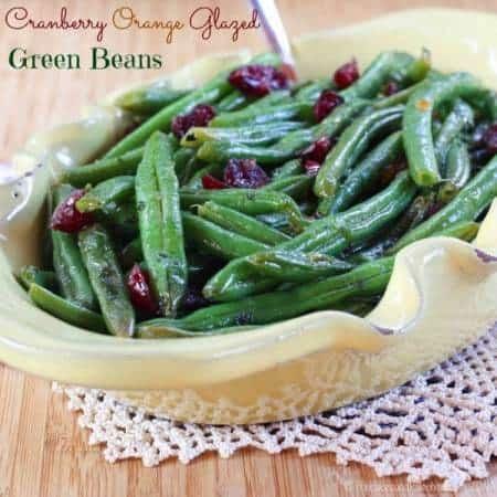 Cranberry Orange Glazed Green Beans