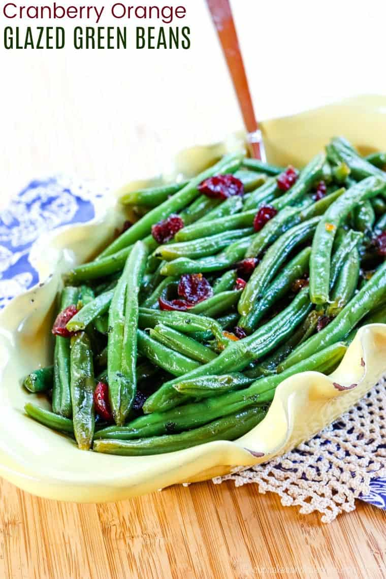 Cranberry Orange Glazed Green Beans Recipe