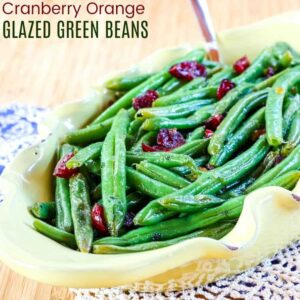 Orange Glazed Green Beans with Cranberries