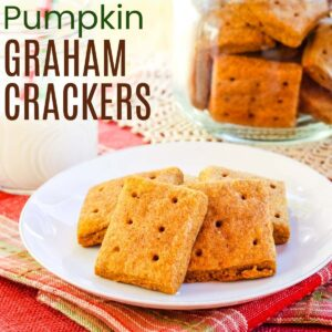 Pumpkin Graham Crackers flavored with maple with the title banner