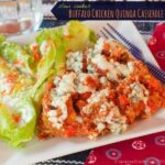 Slow Cooker Buffalo Chicken Quinoa Casserole for #WeekdaySupper