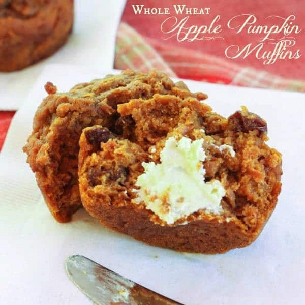 Whole Wheat Apple Pumpkin Muffins - Cupcakes & Kale Chips