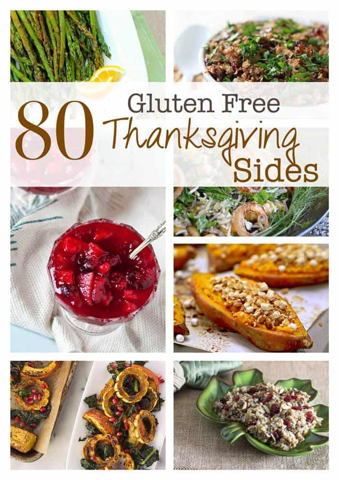 80 Gluten Free Thanksgiving Side Dishes - the best recipes on the web for gluten-free vegetables, stuffing, cranberry sauce, salads, potatoes and more! | cupcakesandkalechips.com