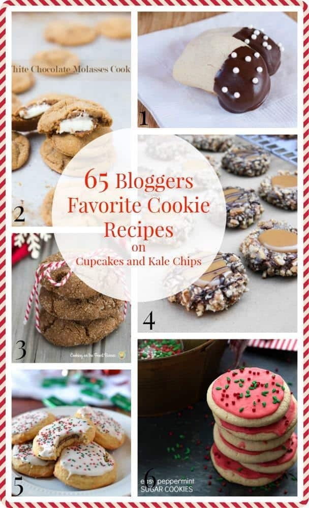 65 Bloggers Favorite Cookie Recipes - the best recipes for all of your Christmas cookie platters, homemade gifts, and holiday desserts! | cupcakesandkalechips.com