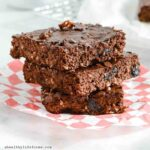 Double Chocolate Cherry Protein Brownies-3sq