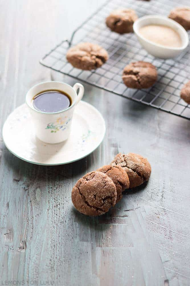 Espresso Snickerdoodles combine coffee and snickerdoodles into one glorious cookie recipe. Pin to your cookies or dessert board! | lemonsforlulu.com for cupcakesandkalechips.com