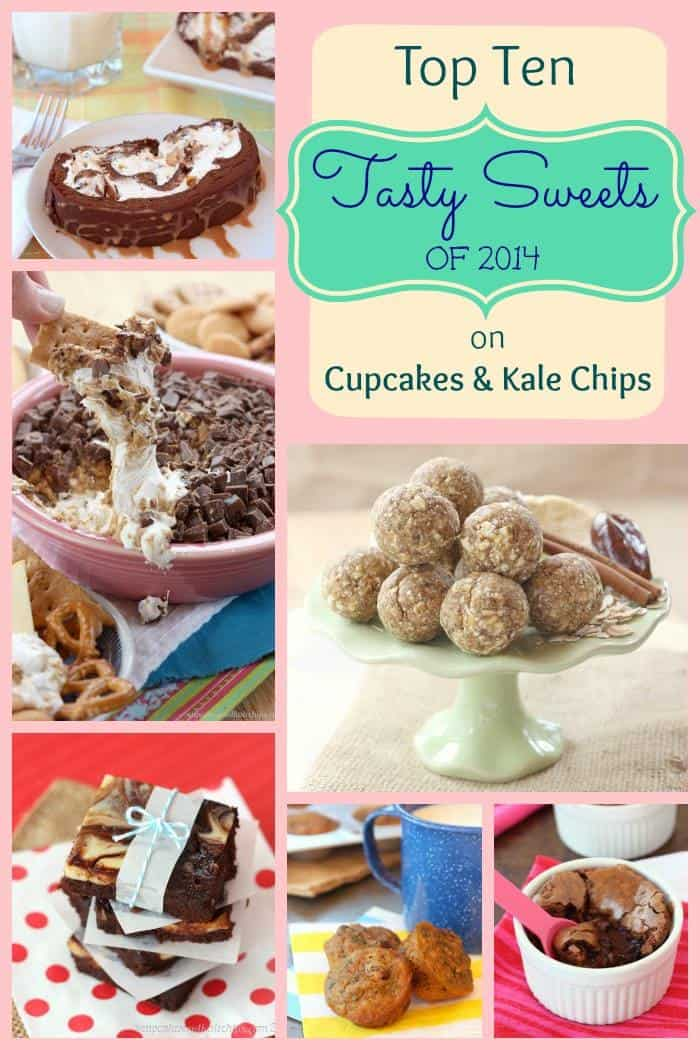 Top 10 Tasty Sweets of 2014 on Cupcakes & Kale Chips (plus my 5 Faves) - with everything from healthy treats to indulgent desserts, there's sure to be something for everyone! | cupcakesandkalechips.com
