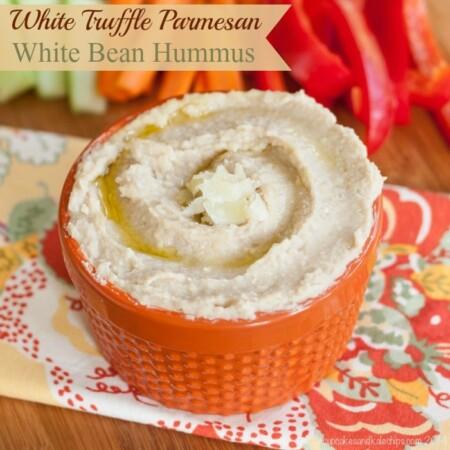 White Truffle Parmesan White Bean Hummus