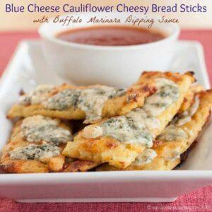 Blue Cheese Cauliflower Cheesy Bread Sticks