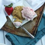 Coconut Milk Strawberry Ice Cream over Honey Orange Biscuits & #EatHealthy15 with @HappyFoodHolly