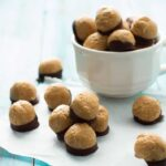 Healthy Peanut Butter Buckeyes & #EatHealthy15 with @MessyBakerblog