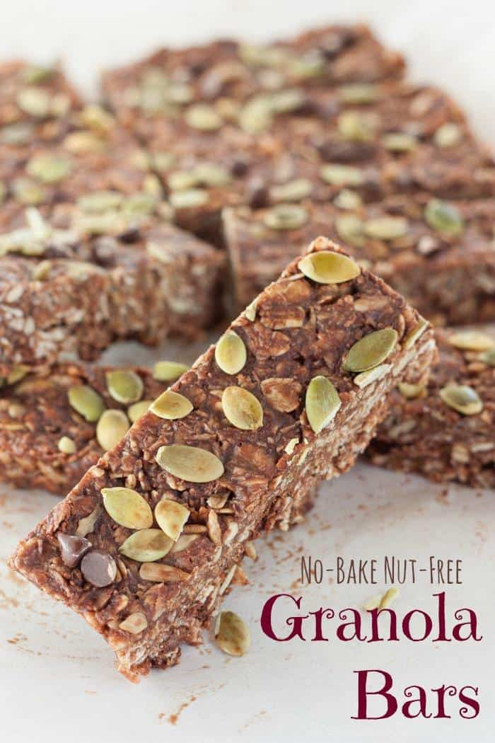 No bake nut free granola bars cupcakes kale chips no bake nut free granola bars and easy and indulgent healthy snack with ccuart Gallery