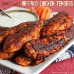Smoky Glazed Buffalo Chicken Tenders with @meltorganic #ButterImprovement