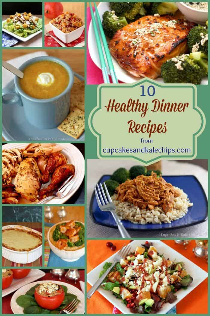 Ten Healthy Dinner Recipes from cupcakesandkalechips.com - satisfying salads, meatless Monday meals, gluten free dinners and more!