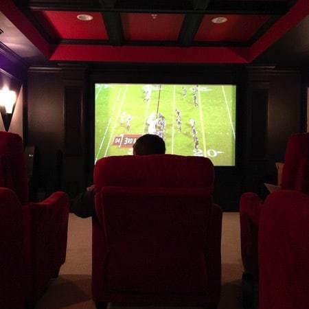 Football theater room