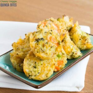 Recipe to Make Cheesy Veggie Quinoa Bites